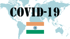 Covid-19 text with India Flag